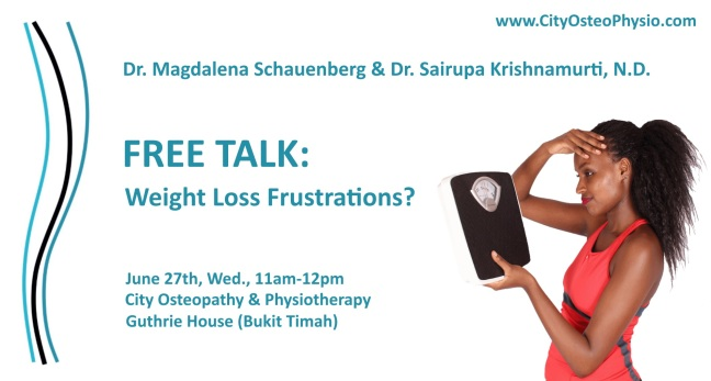 Weight Loss Frustrations? Free Talk at CityOsteoPhysio!